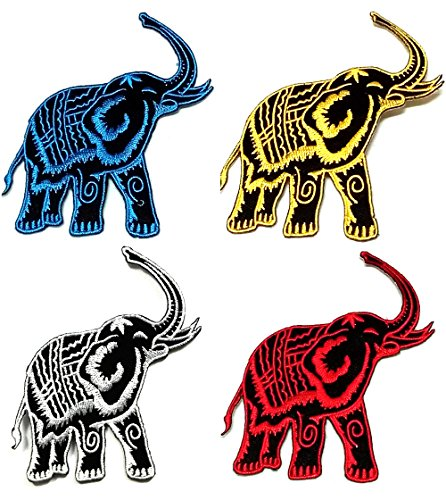 Elephant Patch Set Applique Embroidered product image