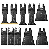 Quick Release Oscillating Saw Blades - Platinum Pack Multitool Bi-Metal Blade for Fein Multimaster, Dewalt, Bosch, Dremel Multi Max, Milwaukee, Makita, Rockwell Sonicrafter, Porter Cable Power Tool