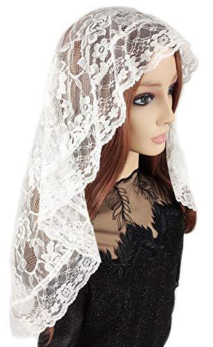 Pamor D Shape Veil Lace Mantilla Chapel Veil Head Covering Latin Mass Scarf