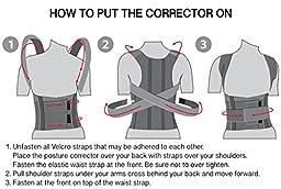 TOROS-GROUP Comfort Posture Corrector and Back Support Brace / 100%-Cotton Liner - Medium, Waist/Belly 32\