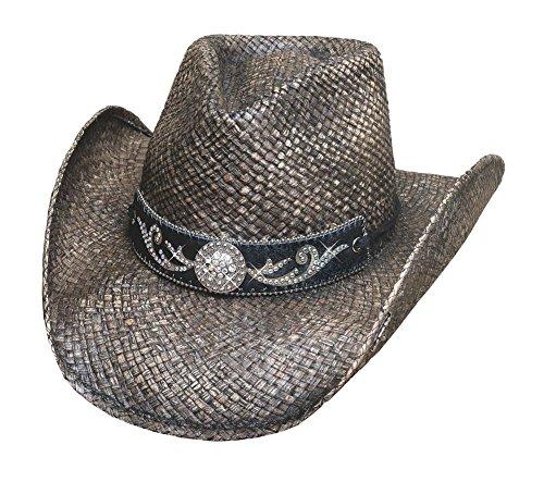 Bullhide Black Tennessee River Western Straw Hat -