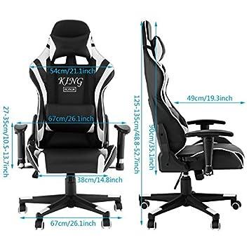Mymotto Burodrehstuhl Chefsessel Mit Kissen Ergonomitischer Computerstuhl Gaming Stuhl Race Stuhl Mit Armlehnen Moderner Schreibtischstuhl
