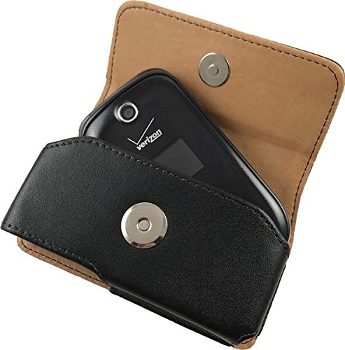 LG Revere-3/Envoy-3 Pouch Case, Cellet Noble Leather Case (with Fixed Belt Clip and Belt Loops) for Palm Centro, LG Revere-3, Motorola V3XX