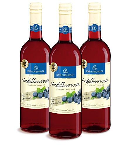 Katlenburger Heidelbeerwein Fruchtwein Süß ( 3 x 0.75 l )