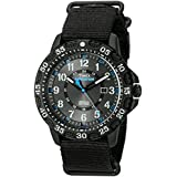 Timex Men's TW4B03500 Expedition Gallatin Black/Blue Nylon Slip-Thru Strap Watch
