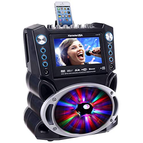 Karaoke GF842 DVD/CDG/MP3G Karaoke System with 7'' TFT Color Screen, Record, Bluetooth and LED Sync Lights by Karaoke USA (Image #5)