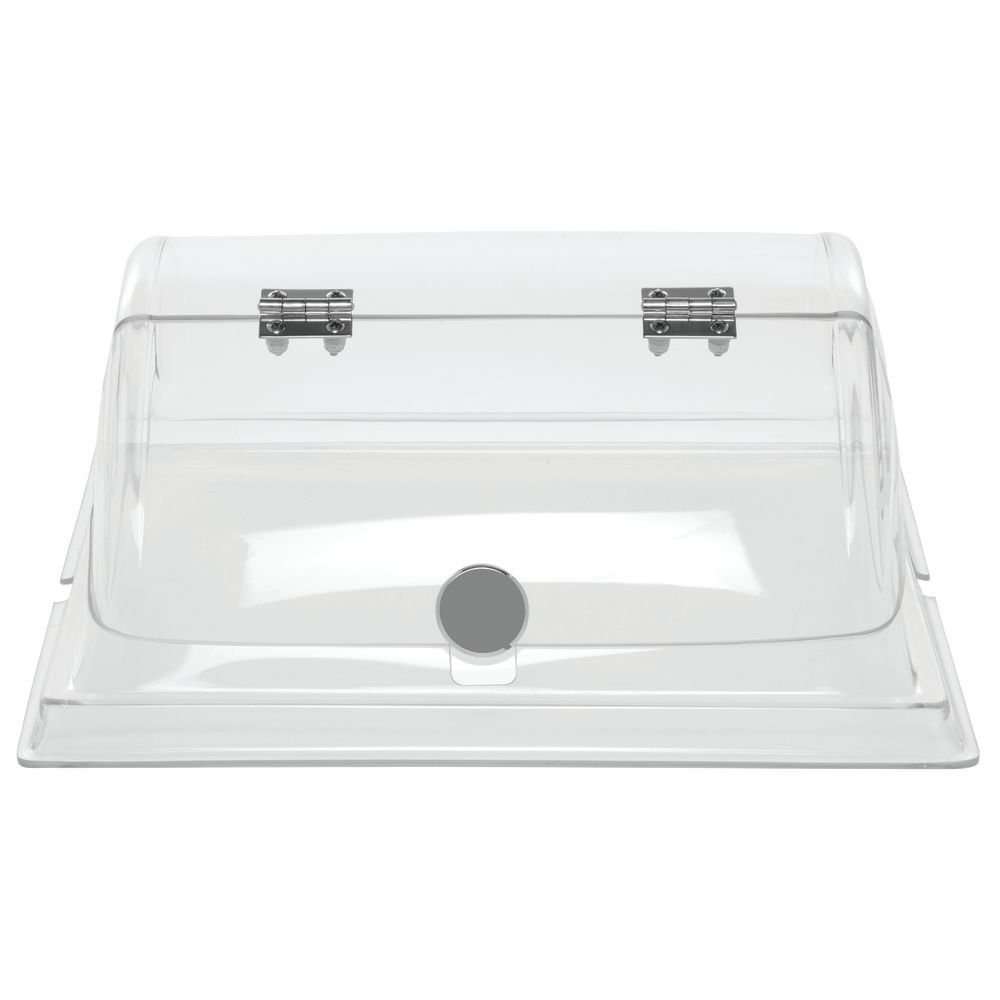 Hubert Dome Cover with Door Square Clear PETG - 14''L x 14''W x 6 1/2''H