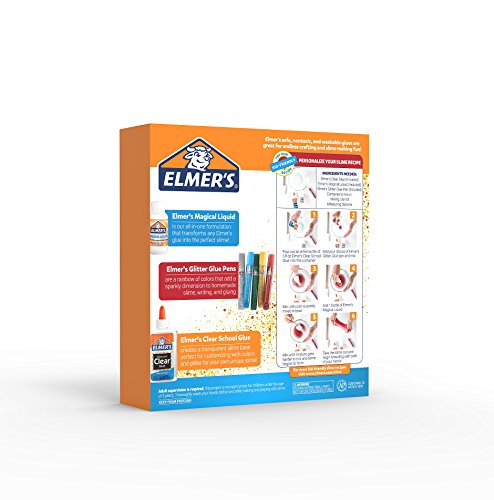 Elmer's Slime Starter Kit, Clear School Glue, Glitter Glue Pens & Magical Liquid Activator Solution, 9 Count Photo #24
