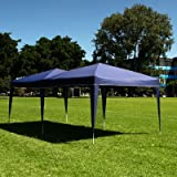 Palm Springs 10 x 20 EZ POP UP BLUE Canopy New Gazebo NO Sidewalls, Outdoor Stuffs
