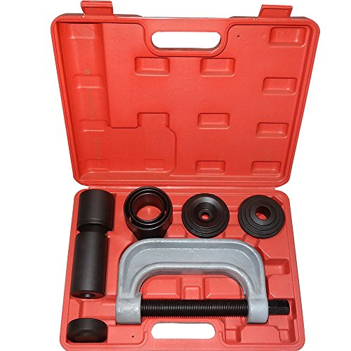 4-IN-1 10pc Ball Joint U-Joint C-Frame Press Service Tool Kit with 4-wheel Drive Adapters Remover Install w/case