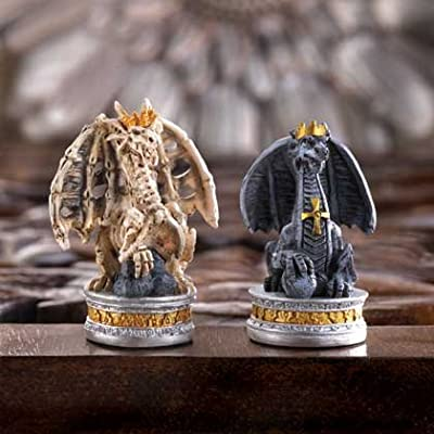 The Black Tower Dragon Chess Set