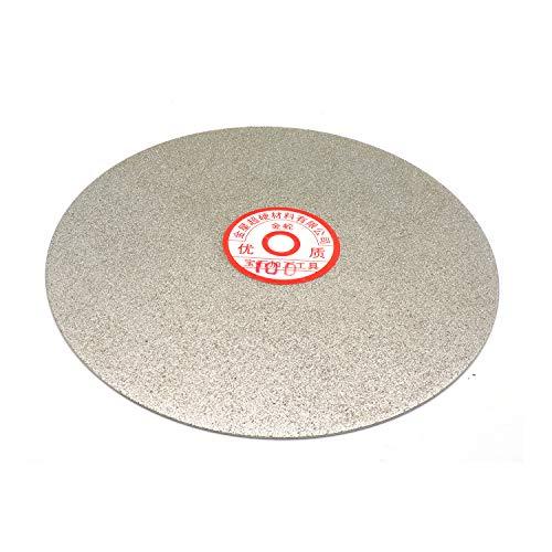 - Rannb 100 Grit 8-inch Outside Dia Diamond Coated Grinding Disc Flat Lap Disk Grinding Polishing Wheel Glass Jewelry Polishing Tool