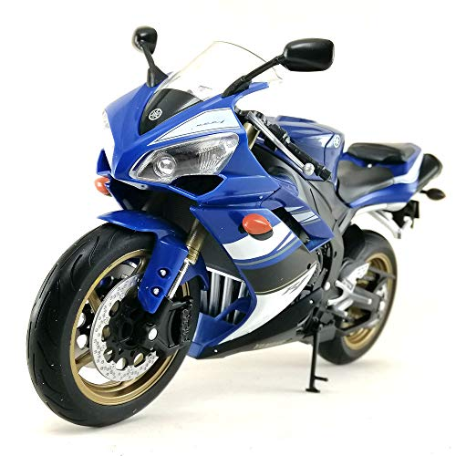 Welly Motorcycle Die-cast Model Yamaha YZF-R1 1:10 Scale Toy Hobby Collection Collectible New in Window Box