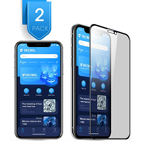 2Pack Compatible with iPhone 11 Pro iPhone X XS Privacy Screen Protector Premium 3D Coverage Edge Anti Spy Tempered Glass Screen Protector for iPhone 11 Pro 2019