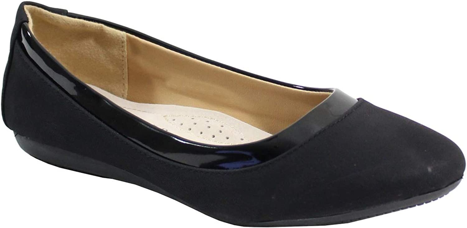 Ballerine Plate Style Velours By Shoes Femme