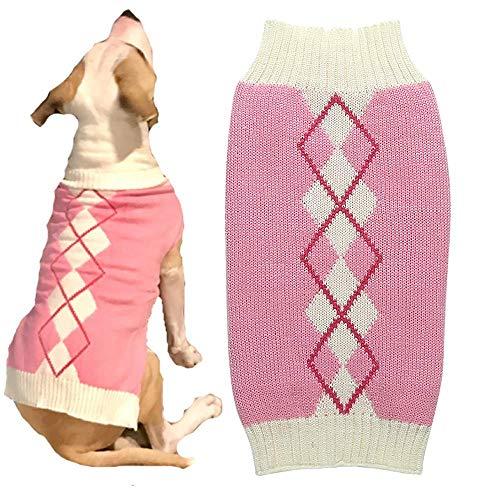Argyle Knit Pet Sweaters