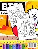 BT21 Coloring Book: Stress Relief with BTS