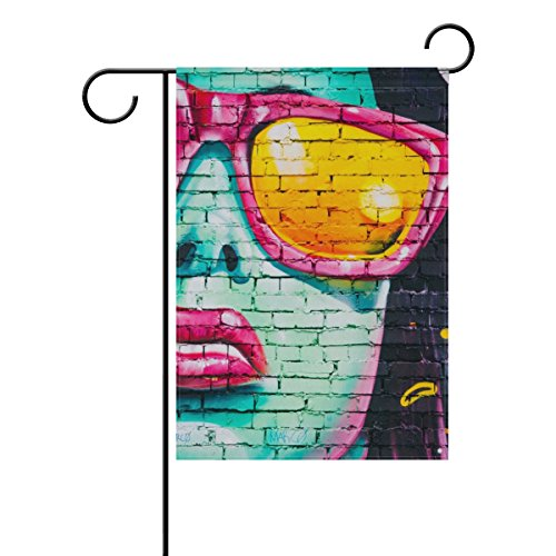 Jere Graffiti Wall Garden Flag Decorative Double-Sided Polyester 12x18 inch for Your Yard