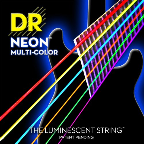 DR Strings NMCE-11 DR NEON Electric Strings, Heavy, Multi-Color by DR Strings