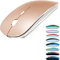 Rechargeable Bluetooth Mouse for MacBook pro/MacBook air/iPad/Laptop/iMac/pc, Wireless Mouse for MacBook pro MacBook Air…