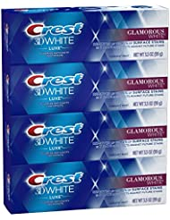 Crest Toothpaste 3D White Luxe Glamorous White, 3.5oz (Pack of 4)