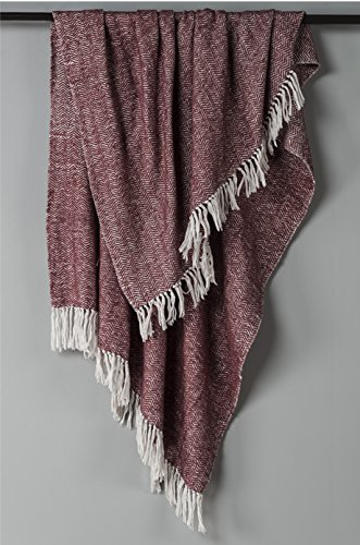 Rizzy Home THRTH0316NIWH5060 Throw Blanket, Raisin B01MTFLUN0