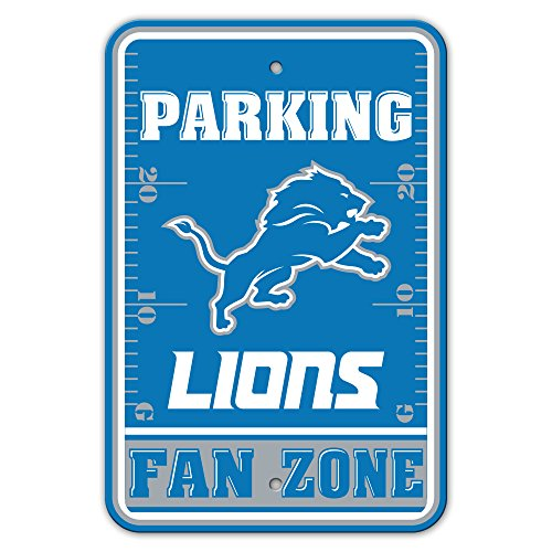 NFL Detroit Lions Fan Zone Plastic Parking Sign, One Size, Blue by Fremont Die
