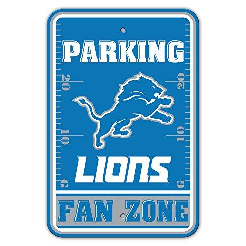 NFL Detroit Lions Fan Zone Plastic Parking Sign, Blue