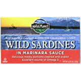 Wild Planet Wild Sardines in Marinara Sauce, 4.375-Ounce Tins (Pack of 6)
