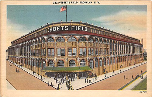(Ebbet's Field Brooklyn, New York, NY, USA Old Vintage Postcard Post Card)