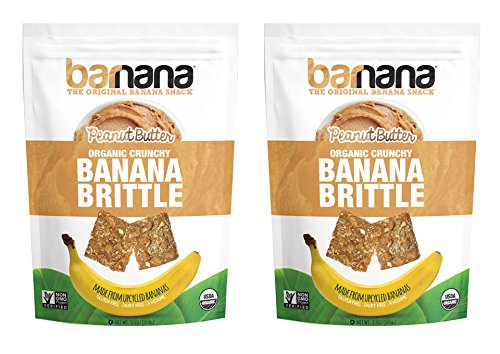 Brittle Peanut Crunchy (Barnana Organic Crunchy Banana Brittle 2 Packs (Peanut Butter))