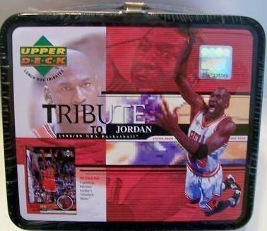1 X Michael Jordan Chicago Bulls Upper Deck Card Lunchbox