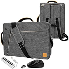 The VanGoddy Slate is a 3-in-1 hybrid laptop bag that offers a messenger, a backpack, and a briefcase tote all in one. The body was designed to be slim and modern but most of all highly productive. The exterior features canvas like nylon that...