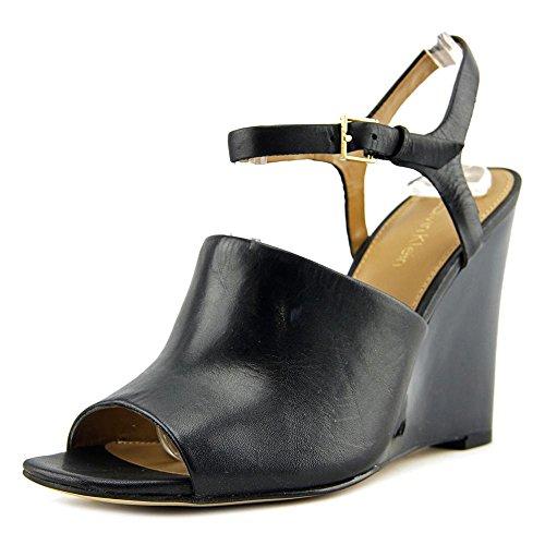 Calvin Klein Wedge (Calvin Klein Pirra Women US 8 Black Wedge Sandal)