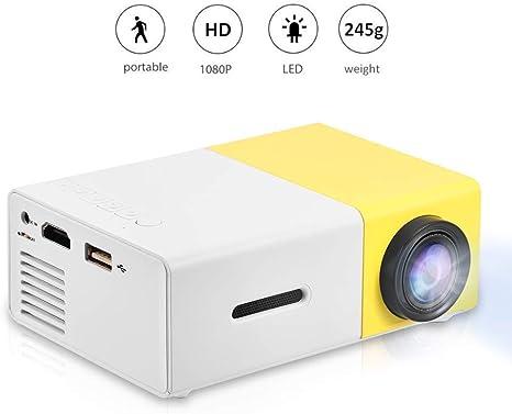 Vbestlife Mini Proyector LED Portátil 1080P HD Admite HDMI, AV ...