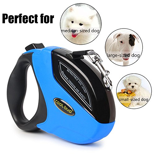 Retractable Dog Leash,Heavy Duty 16 Foot Extended Dog Walking Leash Adjustable with Break and Lock Button-Sturdy Nylon Ribbon Cord,Tangle Free,Suitable for Small,Medium and Large Dogs Up to 110 Lbs by PetsKing (Image #5)