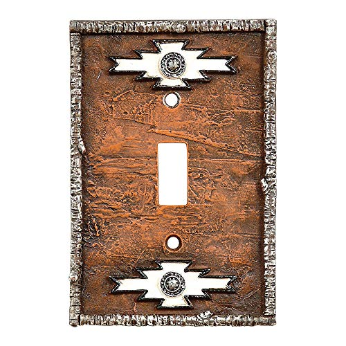 Single Navajo - Navajo Rustic Single Switch Plate - Rustic Decor
