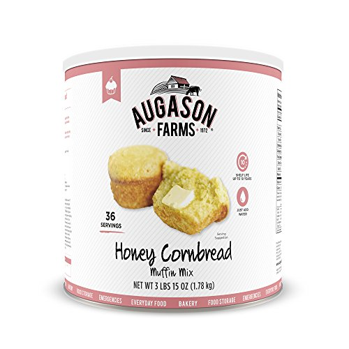 Augason Farms Honey Cornbread Muffin Mix 3 lbs 15 oz No. 10 - Farms Augason Honey