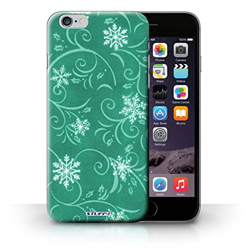 Hülle Case für iPhone 6+/Plus 5.5 / Türkis Entwurf / Schneeflocke-Muster Collection