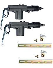 Etopars 2 X Black Car Plastic Universal Heavy Duty Power Door Lock Actuator 2 Wire 12V