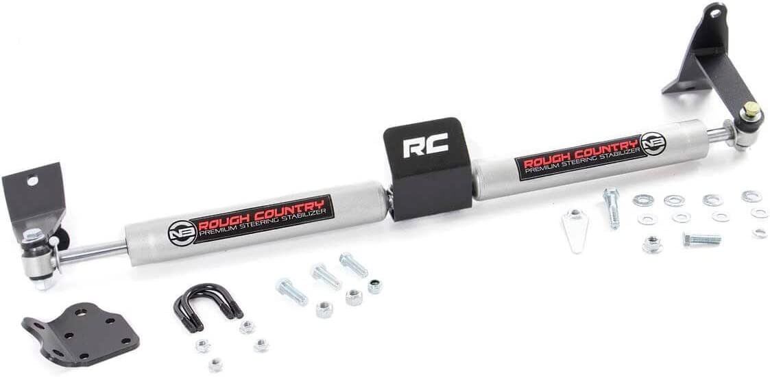 Rough Country 8749530 Stabilizer Dual (fits) 2003-2013 RAM Truck 2500 3500 4WD Premium Steering Damper
