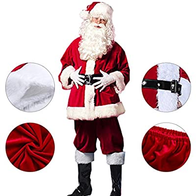 Christmas Santa Claus Costumes Plush Boy's Pub Flannel Crawl Santa Suit Xmas Suit