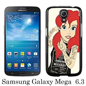 Newest Samsung Galaxy Mega 6.3 I9200 Case ,Tattoo Ariel Little Mermaid Black Samsung Galaxy Mega 6.3 I9200 Screen Phone Case Popular Fashion And Durable Designed