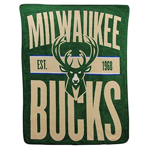The Northwest Company NBA Clear Out Super Soft Plush Throw Blanket (Milwaukee (Milwaukee Bucks Gear)