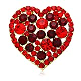 I Love You Be Mine Red Heart Valentine's Day Brooch Pin Designer Fashion Jewelry