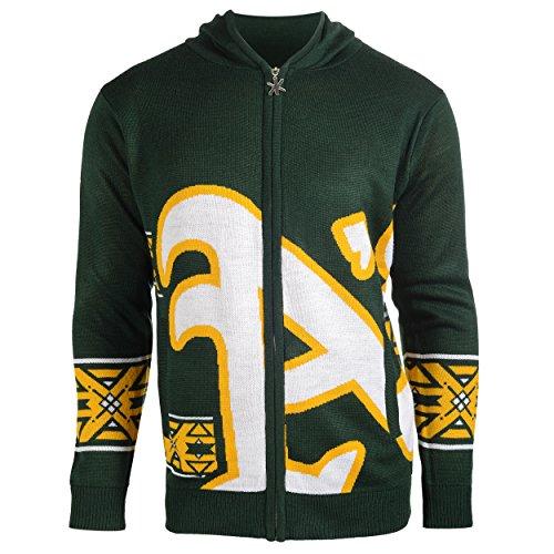 (Oakland Athletics Full Zip Hooded Sweater Extra)