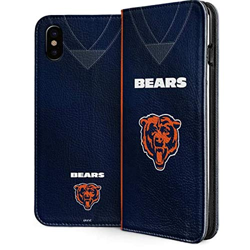 Skinit Chicago Bears iPhone Xs Max Folio Case - Officially Licensed NFL Phone Case - Vegan Faux-Leather Wallet iPhone Xs Max Cover