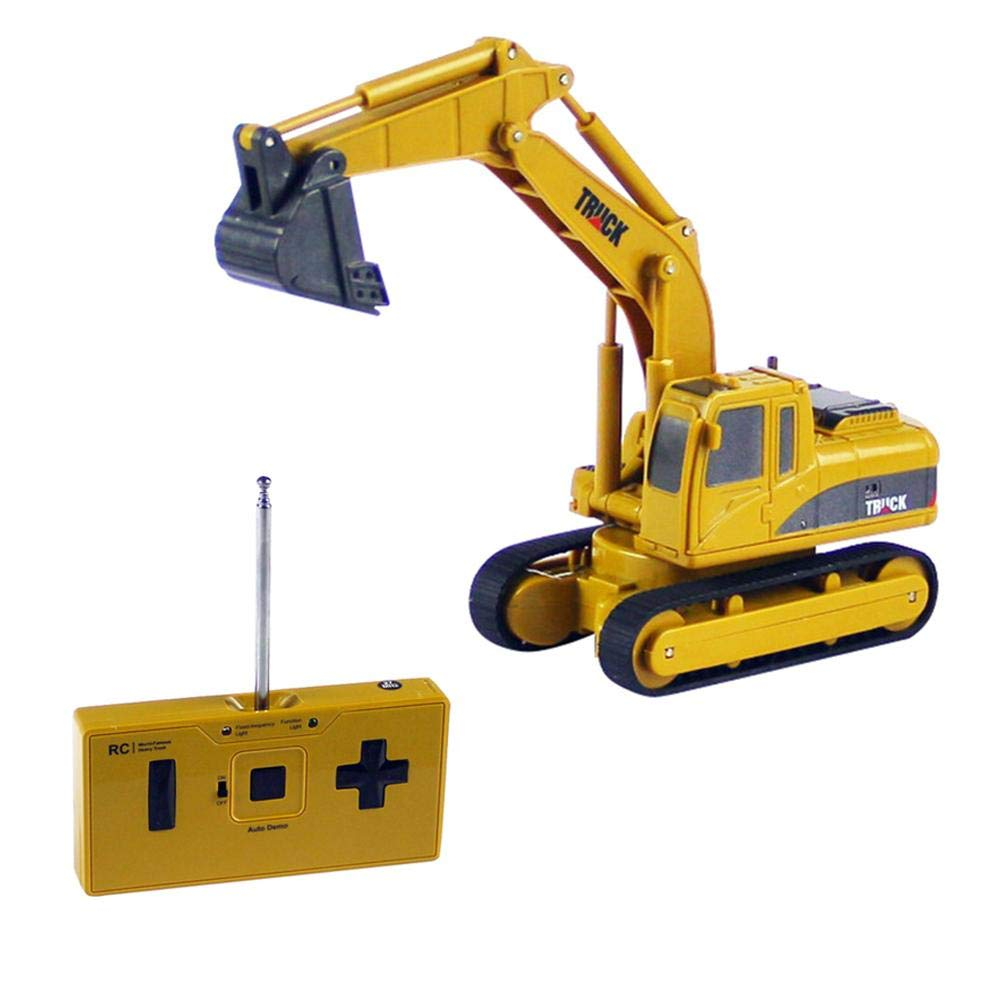Waroomss Remote Control Excavator Toys For Boys ,Construction Tractor, Excavator Toy With 2.4Ghz Transmitter