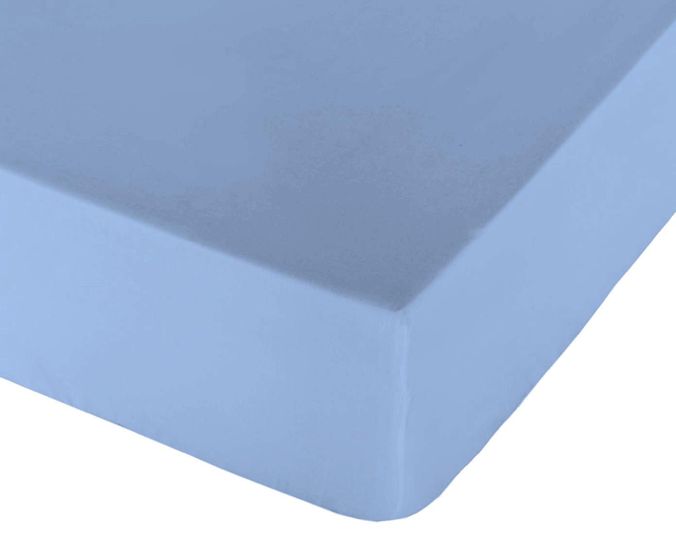 Play Basic Collection Glatte Spannbetttuch für Bett, 105 grau