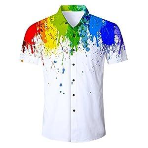 Idgreatim Le Donne a Righe Manica Corta T-Shirt Casuale Camicetta Tee Parti Superiori